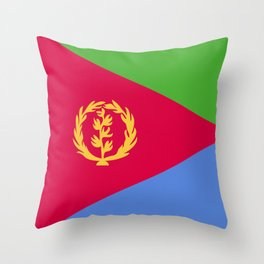 Eritrea flag emblem Throw Pillow