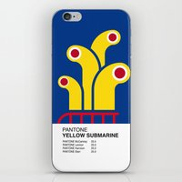 yellow submarine iPhone & iPod Skins featuring Pantone YELLOW SUBMARINE by Alberto Lamote de Grignon
