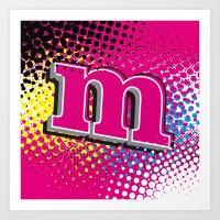 CMYK - Magenta Art Print
