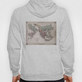 Vintage Map of Greece and Italy (1852) Hoody