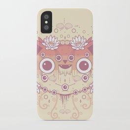 Cat flowers iPhone Case