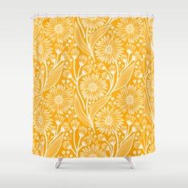 Saffron Coneflowers Shower Curtain