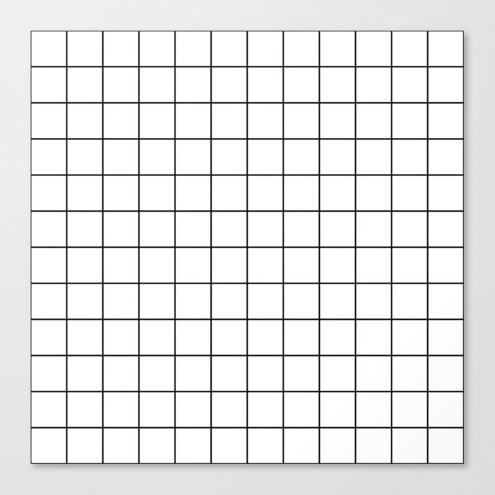 Grid Pattern Stripes Lines Black and White Minimalist Geometric Stripe Line Leinwanddruck
