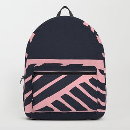 Boho Ethnic Pattern No 03 - Navy and Pink Backpack