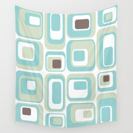 Retro Rectangles Mid Century Modern Geometric Vintage Style Wall Tapestry