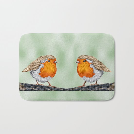 Knitted Robin Bath Mat