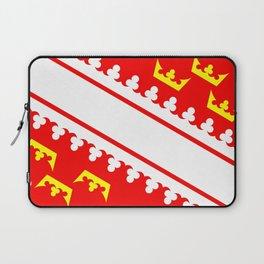Alsace flag france country region Laptop Sleeve