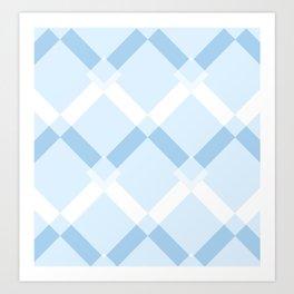 Chevrons Blue Art Print