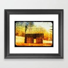 Vintage Cabin Framed Art Print