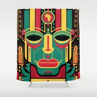 africa Shower Curtains featuring africa by francescoporoli