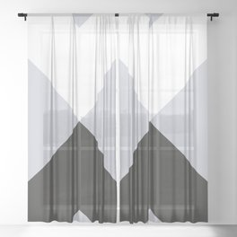 Minimal X Frost Sheer Curtain