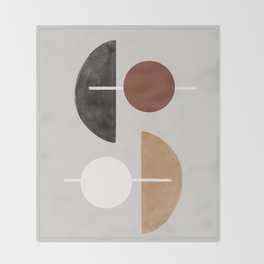 Moon and Sun Abstract Throw Blanket
