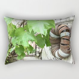 Rusty Wreath Rectangular Pillow