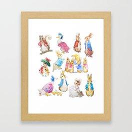 Tales of Peter Rabbit  characters Beatrix Potter Framed Art Print