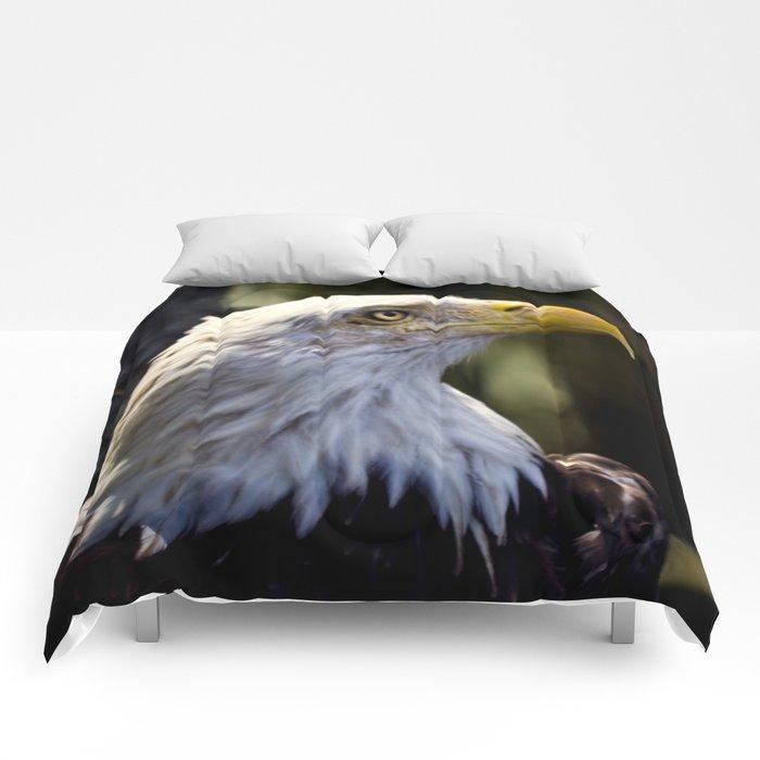 Proud Bald Eagle Comforters