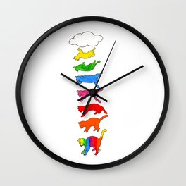 Rainbow cats Wall Clock