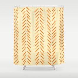 Herringbone Pattern in Autumn Colors Shower Curtain