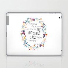 Alice in Wonderland - quote in wreath Laptop & iPad Skin