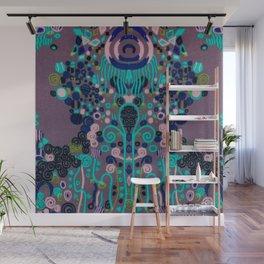 """Gustav Klimt """"Textile design - Model 2"""" edited (1) Wall Mural"""