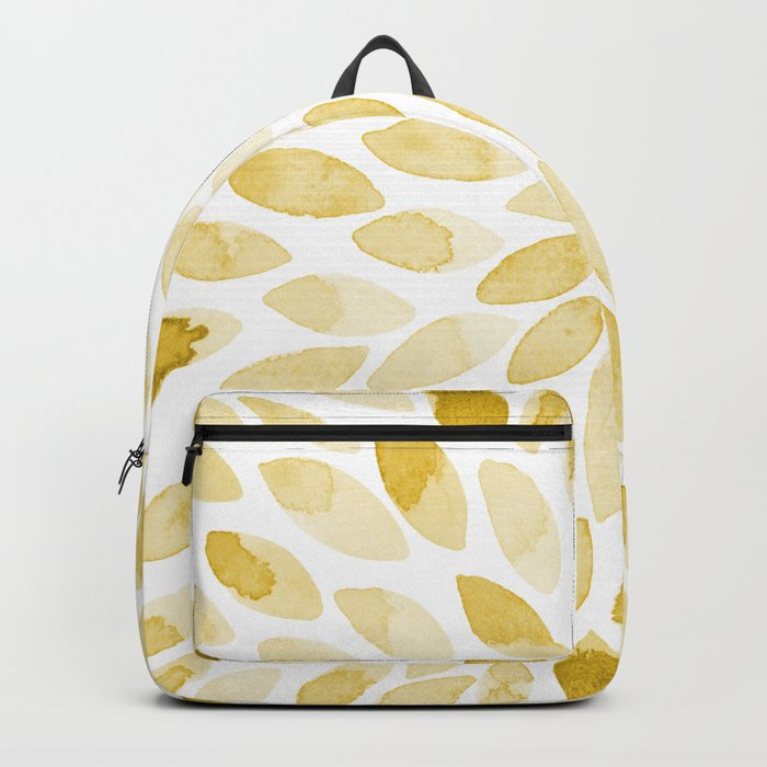 Watercolor brush strokes - yellow Backpack