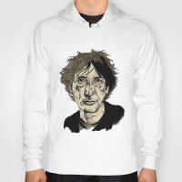 neil gaiman Hoodies featuring Neil Gaiman by Andy Christofi