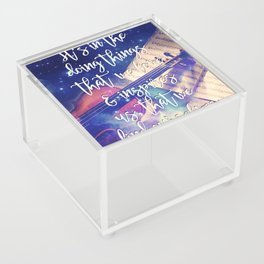 Violin Dream • Find Self Quote • Do What You Love Acrylic Box