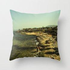 Malia beach Throw Pillow