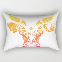Angry cattle in the wind by #Bizzartino v2 Rectangular Pillow