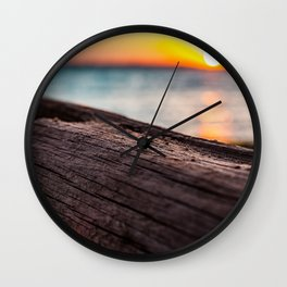 The Resting Timber Wall Clock