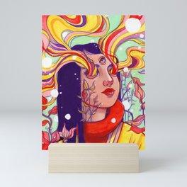 Acid Flowers Mini Art Print