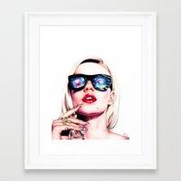 iggy azalea Framed Art Prints featuring Iggy Azalea Portrait by Tiffany Taimoorazy