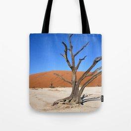 Skeleton tree in Namibia Tote Bag