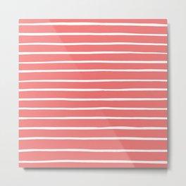 Stripes Pink Metal Print
