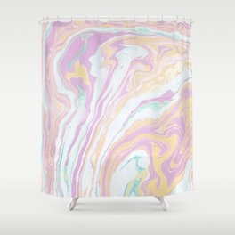 Colorful grunge marble Shower Curtain