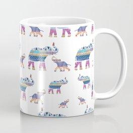 Elephant Tribal Pattern Coffee Mug