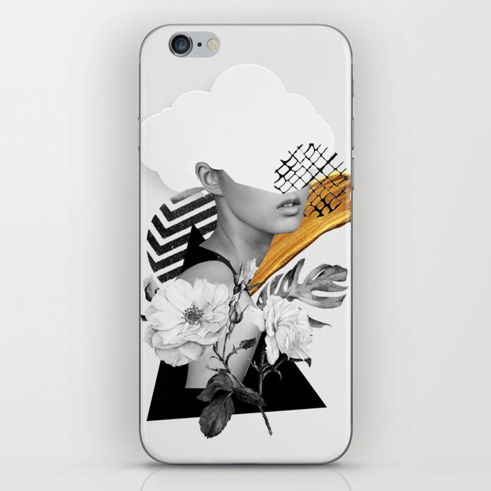 collage art (girl) iPhone Skin