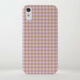 Lilac Houndstooth iPhone Case