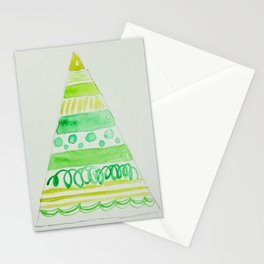 All the greens Christmas tree Stationery Cards
