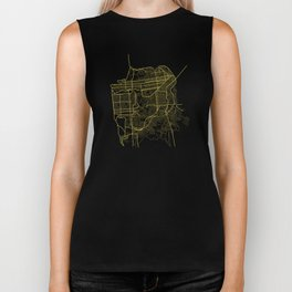 San Francisco Map Biker Tank