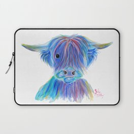 Scottish Highland Cow ' HIGHLAND BLOO ' by Shirley macArthur Laptop Sleeve