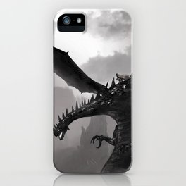 Fantastic Gruesome Giant Angry Dragon Flapping Wings Lair Ultra HD iPhone Case