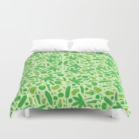 vegetable Duvet Covers featuring Vegetable salad by Tony Vazquez