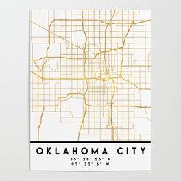 OKLAHOMA CITY STREET MAP ART Poster