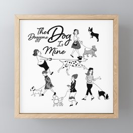The Doggone Dog Is Mine_Girls Framed Mini Art Print