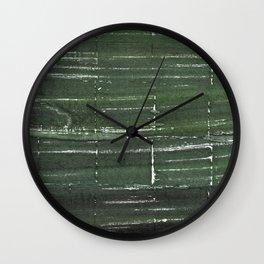 Kombu green abstract watercolor background Wall Clock
