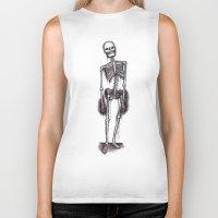 skeleton Biker Tanks featuring skeleton by CarlyK473