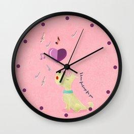 Valentine's Westie Dog in Love Wall Clock
