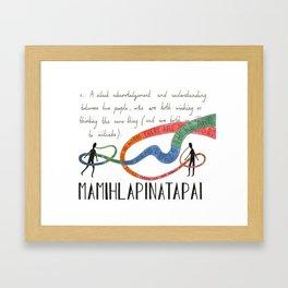 Mamihlapinatapai Framed Art Print