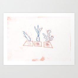 Plant collection Art Print