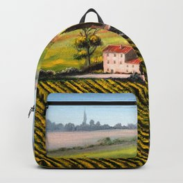 Vineyards In Tuscany Italy Backpack